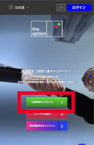 ザオプション(theoption)口座開設フォーム行き方