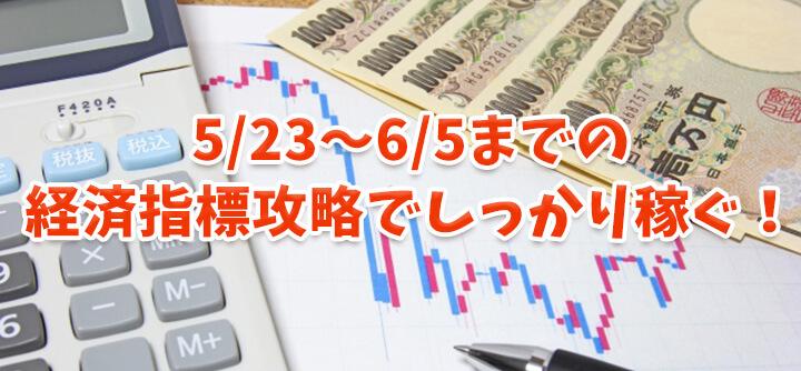 5/23~6/5までの経済指標攻略で稼ぐバイナリーチャンス