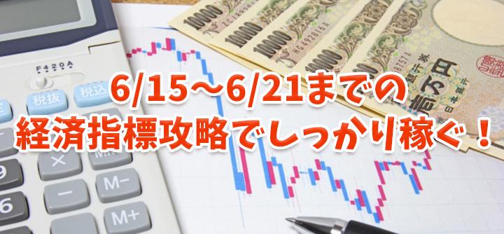 6月中旬までの経済指標の為替変動を攻略予想