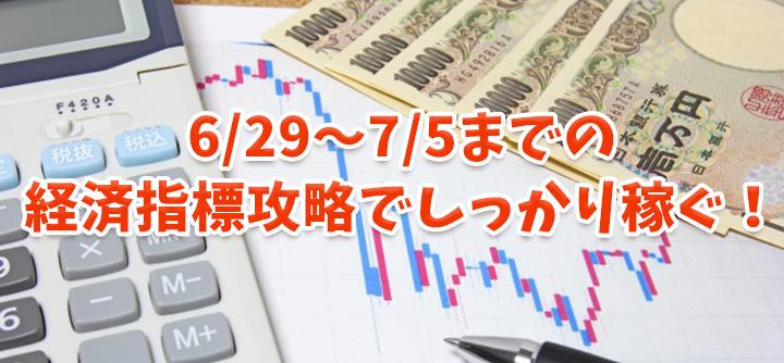 6月末から7月初旬までの経済指標攻略で稼ぐバイナリーチャンス