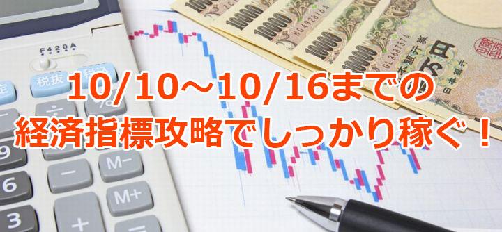 10月10日からの経済指標を攻略してバイナリーオプションで稼ぐ